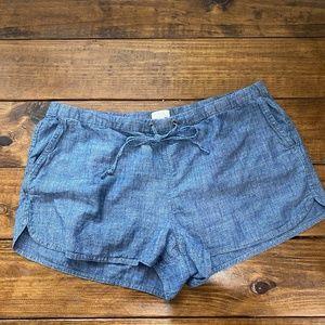 J. Crew chambray soft shorts